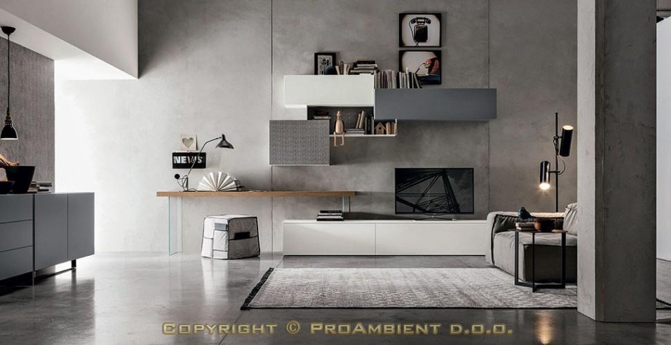 Furnirane komponibilne moderne dnevne sobe for Mobili zona giorno moderni